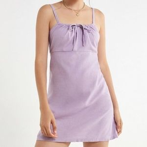 Urban Outfitters Lavender Front-Tie Dress